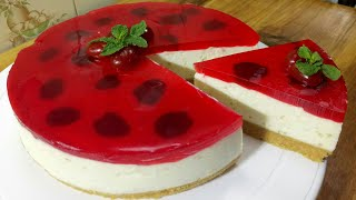 No-Bake Cheese cake Recipe/Cheesecake Recipe/Cake recipe/নো-বেক চিজ কেক রেসিপি/চিজ কেক রেসিপি