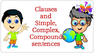 English Grammar - Clauses Simple Complex Compound Sentences - in hindi