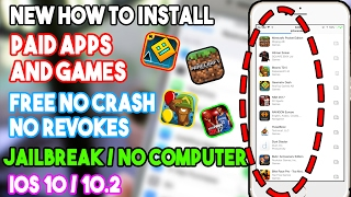 New How To Install Paid Apps & Games Free (JAILBREAK) No Computer/Crash iOS 10/10.2 iPhone/iPod/iPad
