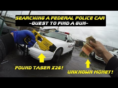 Searching A Federal Police Car Found A Taser X26 Ford Crown Victoria Cop Explore