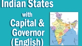 Indian states with their capital Chief Ministers and their Governor in English | Static GK