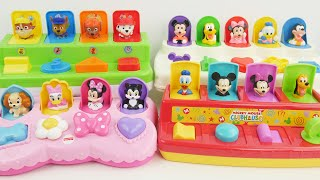 Lots of pop up toys with Paw patrol and mickey