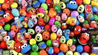 Huge 105 Huevos Sorpresa Pocoyo PeppaPig MonsterHigh Disney Frozen Play-Dough Cookie Monster Cars