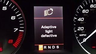 AUDI Adaptive Light Defective, VCDS Error 02629, A4/A6/A8/S4/S6/S8; 2.0t, 3.2, 4.2, 5.2 V10