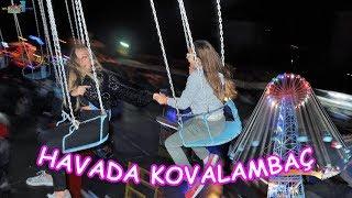 HAVADA ADETA UÇARCASINA KOVALAMBAÇ OYNADIK (Bursa Balkan Panayırı Eğlencesi) Eğlenceli Çocuk Videosu