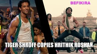 Tiger Shroff COPIES Hrithik Roshan In Befikfra Video Song !!
