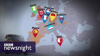 Brexit: Will UK banks move abroad? - BBC Newsnight