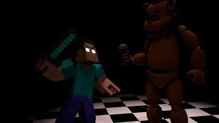 FNAF: Freddy VS Herobrine | Minecraft Timelapse | (Five nights at Freddy´s