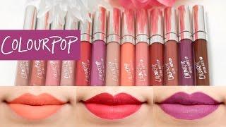 ColourPop Ultra Matte Liquid Lipstick Lip Swatches ♡ 13 shades