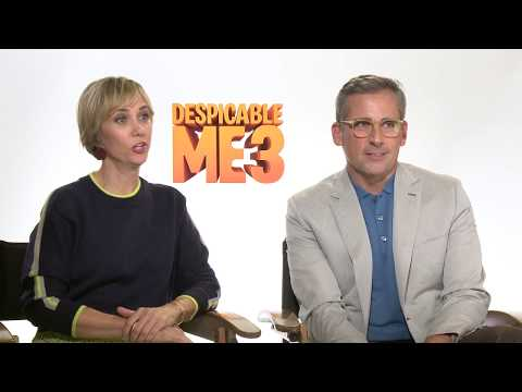 Despicable Me 3 Steve Carell Kristen Wiig and Miranda Cosgrove