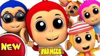 five little monkeys | nursery rhymes for kids | baby song | children rhymes
