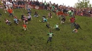 Cheese-Rolling at Cooper's Hill, Gloucestershire - 2015.