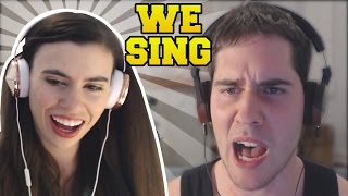 REACTING TO POPULARMMOS & GAMINGWITHJEN SINGING: SHAPE OF YOU & CLOSER!!