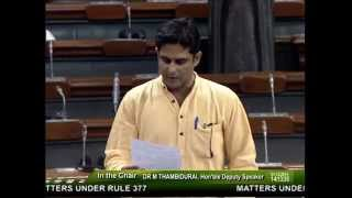 Parliamentary intervention (Under Rule 377) on the drought situation in Odisha