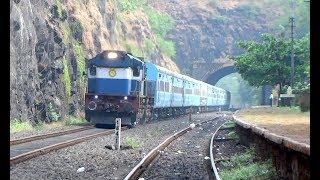 BEST OF KONKAN RAILWAY : [7 in 1] Ultimate Ukshi Station : Jan Shatabdi + Mandovi + Many More