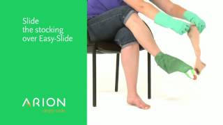 How to put on compression stockings with Easy-Slide