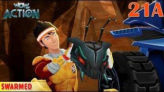 Hot Wheels Battle Force 5   Episode 21 - Swarmed   Part 1   WowKidz Action