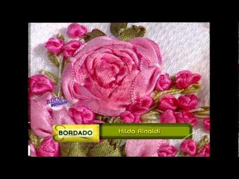 Hilda Rinaldi Bienvenidas TV Toallas bordadas con Cintas