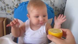 Babies Eating Lemons ★ Funny Kids Videos ★ Baby Popcy
