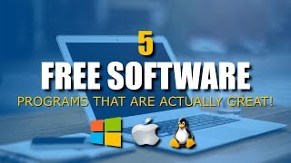 5 Free Software (Programs That Are Actually Great!)