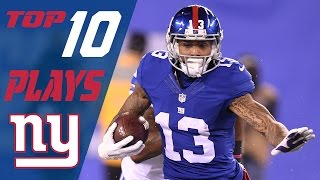 Giants Top 10 Plays of the 2016 Season | NFL Highlights