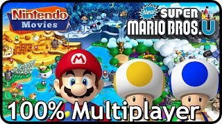 New Super Mario Bros. U - Full Game (All Worlds, 100% Multiplayer Walkthrough)
