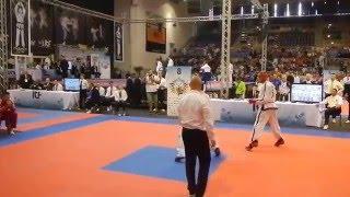 Alejo Vatrano Vs Competidor Polaco 1° Combate 1° Round Jesolo, Itala 2015