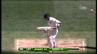 Virender Sehwag Gets Castled By James Pattinson HD mp4