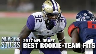 4 Best Rookie & Team Fits from the 2017 NFL Draft | Move the Sticks | NFL