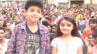 Ruhanika Dhavan & Faizan From Ashoka Visit Garba School In Surat P2