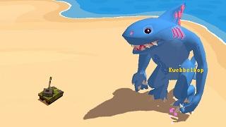 TANK vs GIANT KILLER MEGA SHARK! (Omegalodon)
