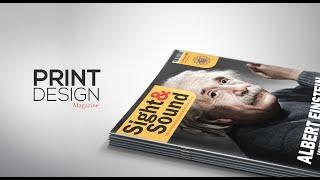 Print Design - Magazine Cover - Adobe Illustrator/Photoshop
