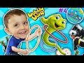 Shawn's Circle #4: The MAGIC APPLE!  Wobbly Worm Toss Game! || DOH MUCH FUN