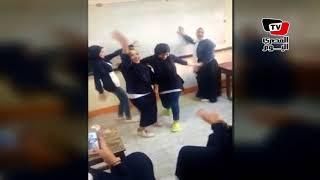طالبات يرقصن على «مهرجانات» داخل مدرسة بدمياط