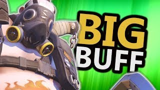BIG Hog Buffs - Damage Reduction & Moving Heal! (Overwatch)