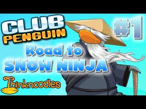 Club Penguin Road to Snow Ninja Part 1