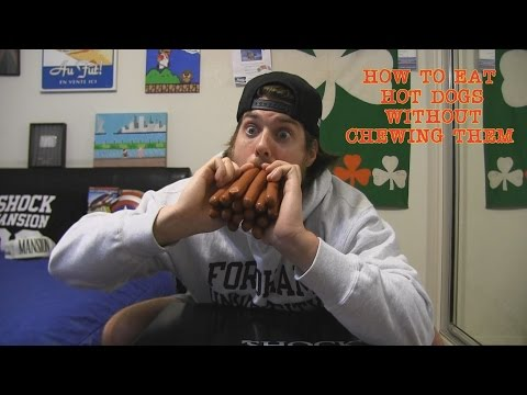 How to Eat 15 Hot Dogs Without Actually Chewing Them (Must See)