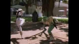 White Ranger vs. Green Ranger