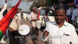 Supporters of Samajwadi Party take out a rally in UttarPradesh | 14 Mar 2018