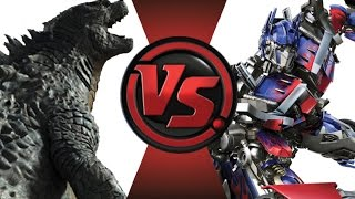 GODZILLA vs OPTIMUS PRIME! REMATCH! Cartoon Fight Club Episode 19