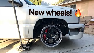 NEW WHEELS! Cosmis Racing Wheels for a Silverado! (Test Fit)