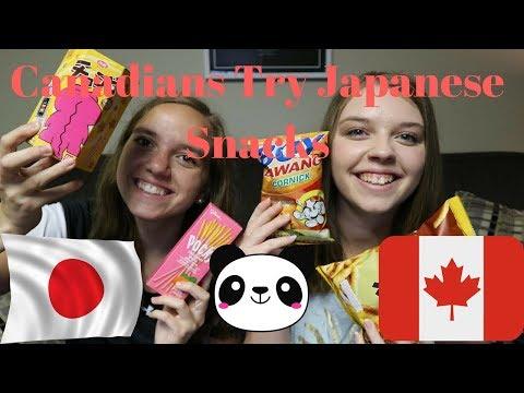 Xxx Mp4 Canadians Try Japanese Snacks Katie XX 3gp Sex