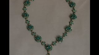 Sidonia's handmade jewelry - Blooming Romance beaded necklace tutorial