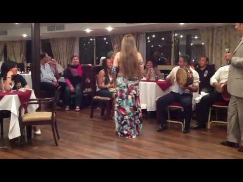 SEXY EGYPTIAN GIRL ENTERTAIN GUESTS BY BELLY DANCING