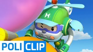Micky Rescue Operation from Big Bubble! | Robocar Poli Clips