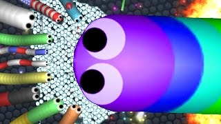 BIGGEST SNAKE VS ENTIRE SERVER! - SLITHER.IO Gameplay (Slither.io Hack & Mods)
