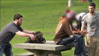 ROBBING PEOPLE (Social Experiment) - Public Pranks 2017