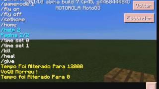 Mod de Comando para Minecraft PE 0 14 0