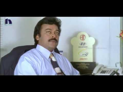 Chiranjeevi Adjusts Ramya Krishna Saree - Iddaru Mitrulu Movie Scenes