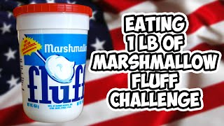 Eating 1 lb Of Marshmallow Fluff Challenge | WheresMyChallenge